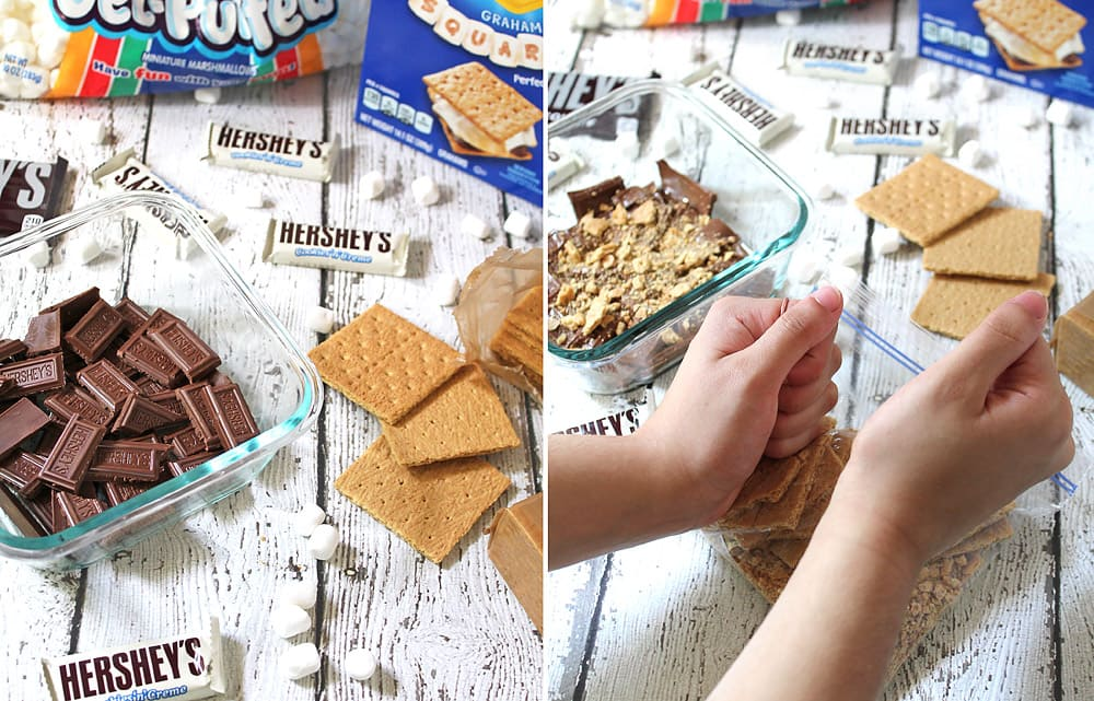 #LetsMakeSmores In A Microwave Steps 1 to 2