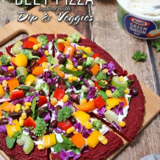 Veggie & Dip Topped Beet Pizza #DipYourWay