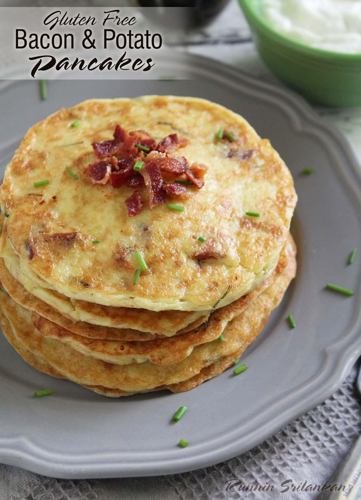 ... cheese and bacon recipes dishmaps pancakes and bacon potato pancake