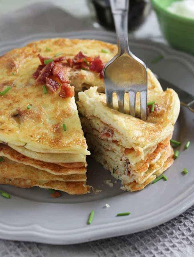 Gluten Free Potato & Bacon Pancakes