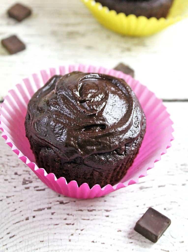 Gluten Free Chocolate Avocado Cupcakes