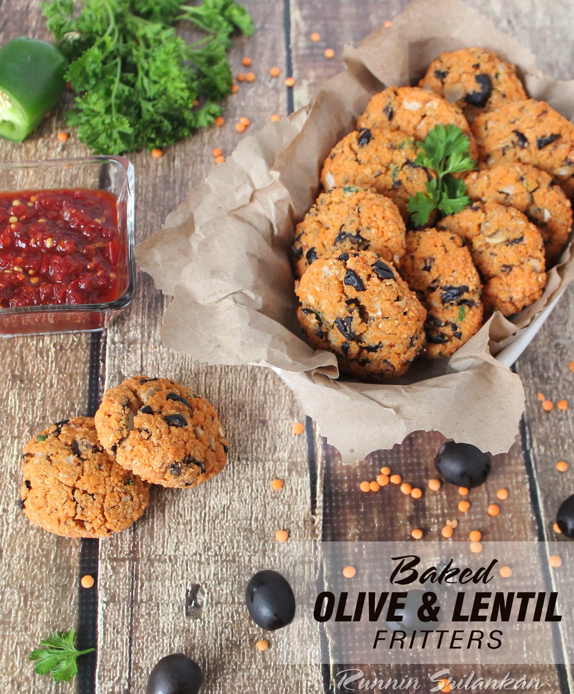 Baked Olive Lentil Fritters aka Dal Vada