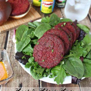 Beet & Black Bean Burgers @RunninSrilankan