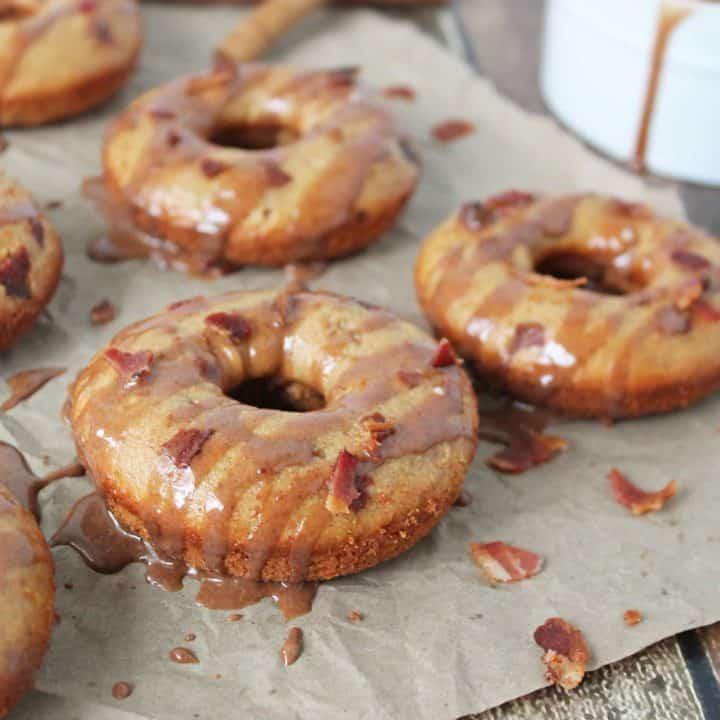 Gluten Free Baked Cinnamon Bacon Doughnuts