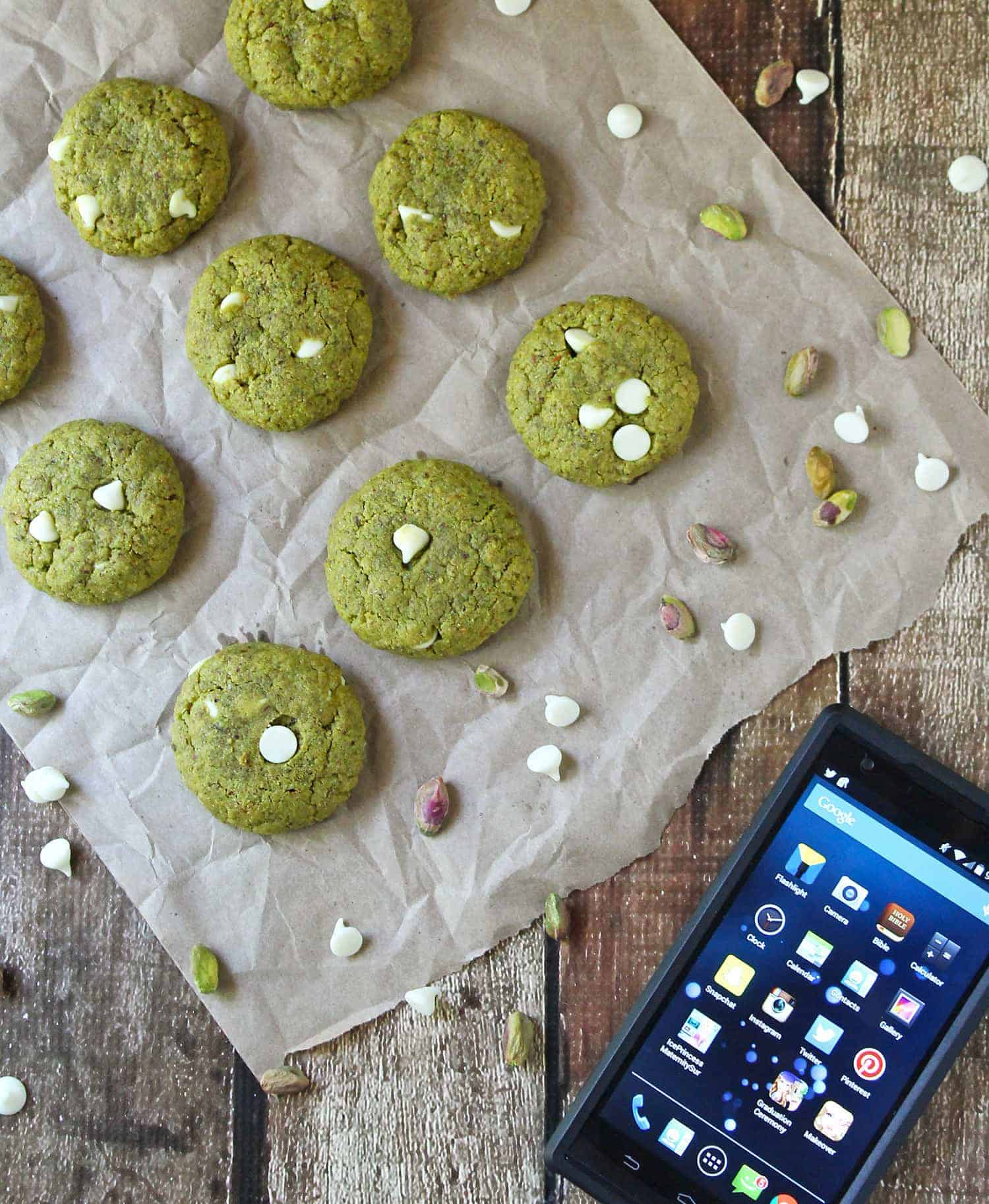Gluten Free Pistachio Cookies After School Snacks