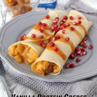 Protein Crepes With Apple Pumpkin Protein Filling #MyGoodEnergy