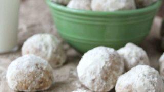 Gluten Free Snowball Cookies #TreatYourFamily