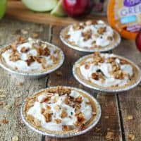 No Bake Fruit and Yogurt Crumble Pies