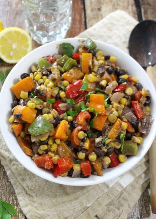 Warm Three Pepper Salad