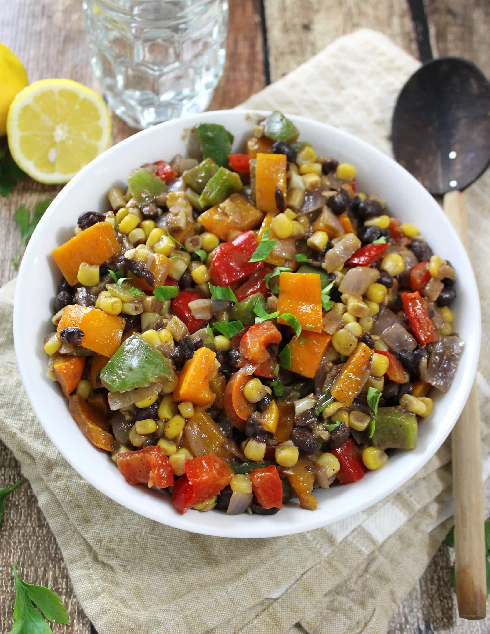 Warm, Curried 3 Pepper Salad