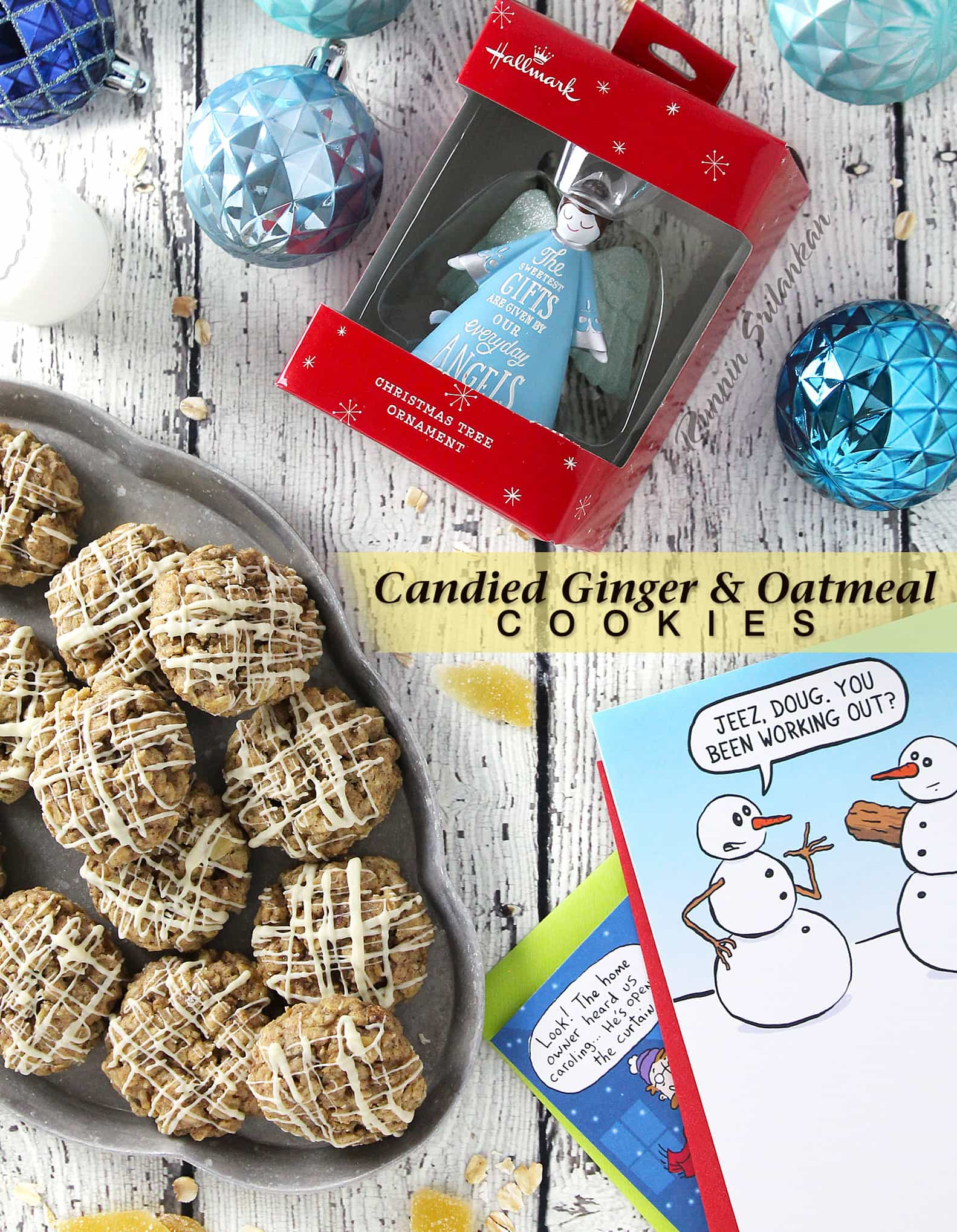 Gluten Free Candied Ginger Oatmeal Cookies for Your Holiday Cookie Platter