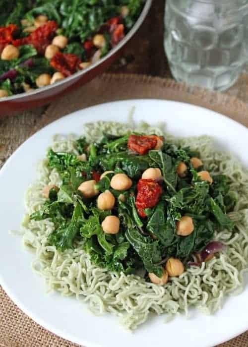 Sautéed Kale Chickpea Salad