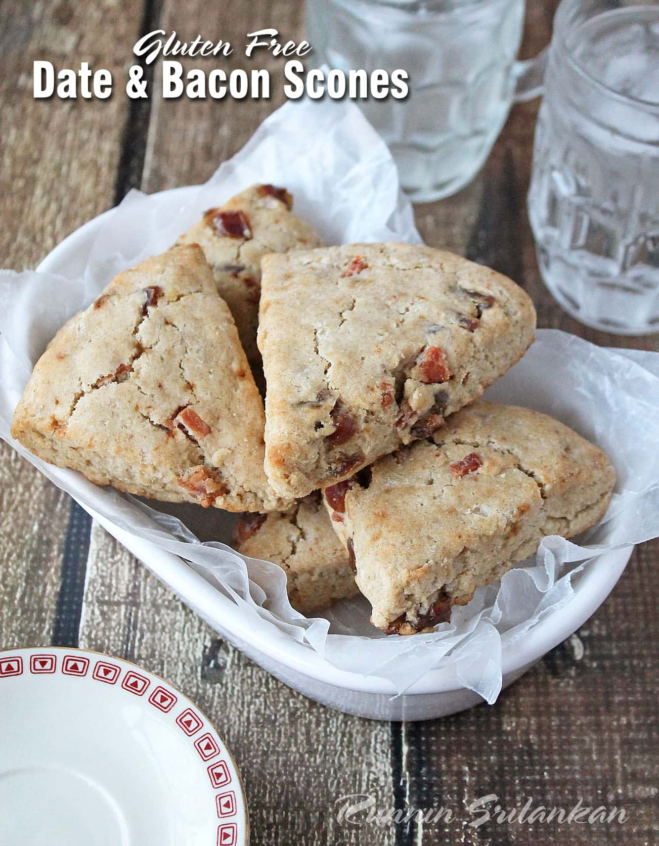 Gluten Free, Sweet and Salty, Date and Bacon Scones