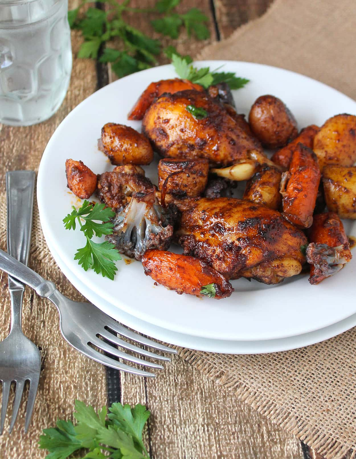 Mood Boosting Spicy Roasted Chicken & Vegetables & Gluten Free Chocolate Ricotta Cookies