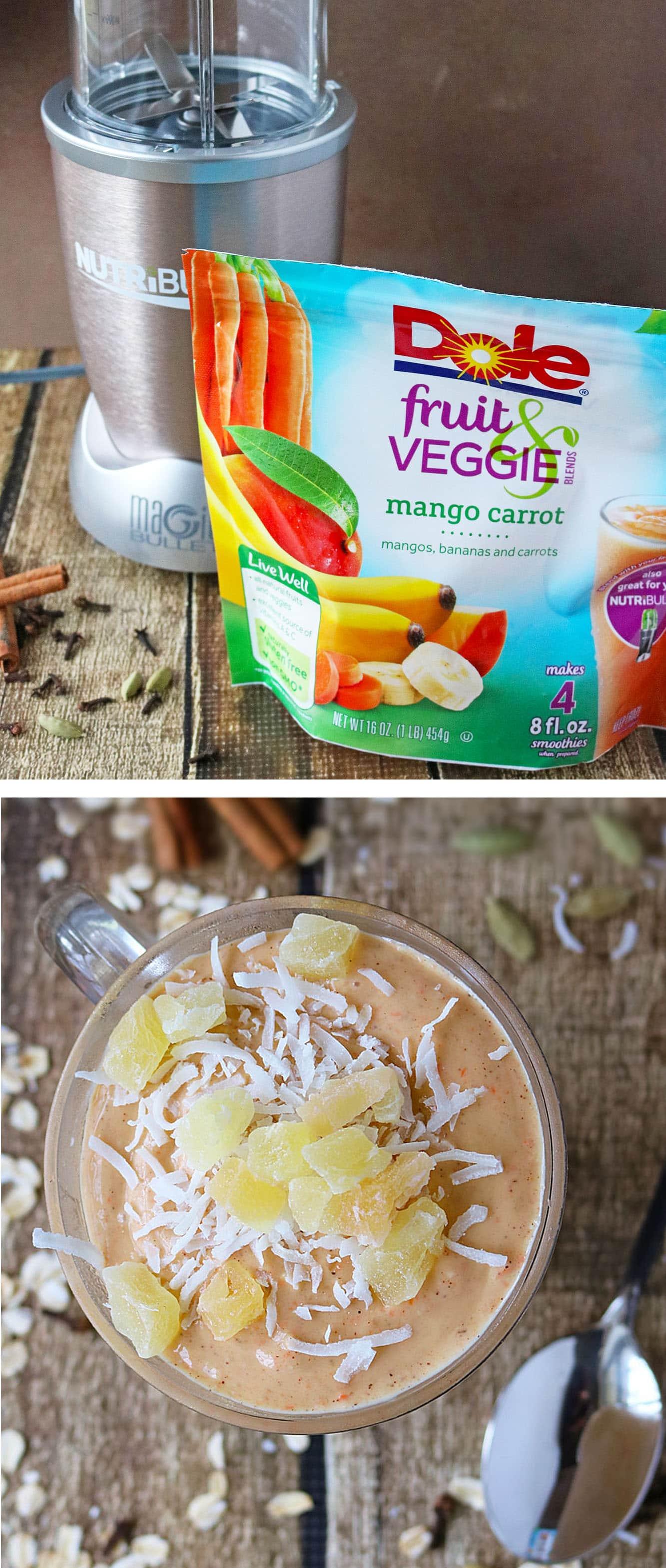 Dairy Free Dole Mango Carrot Smoothie #BestBlendsForever