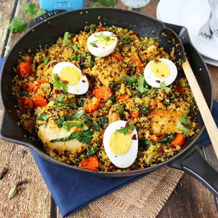 This Quinoa & Chicken Biryani is a healthier take on the Biryani I grew up on as a child. #TheRecipeRedux