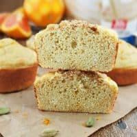 Orange Cardamom Protein Muffins