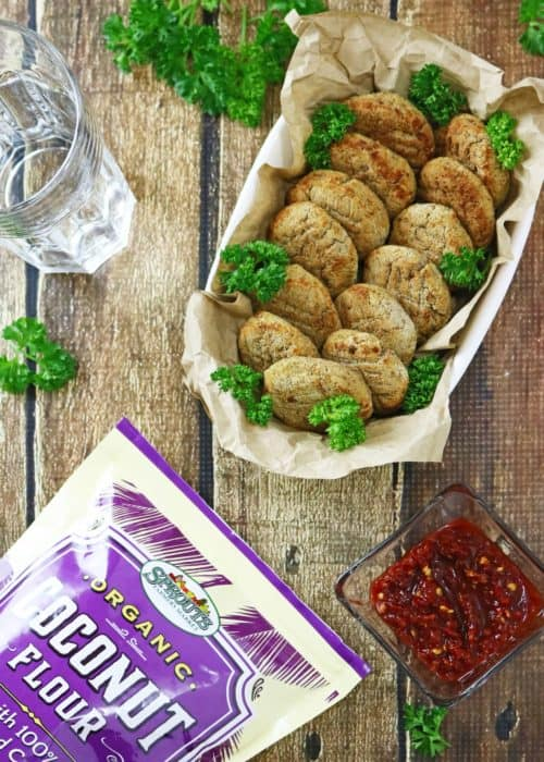 Baked Pinto Bean & Coconut Fritters