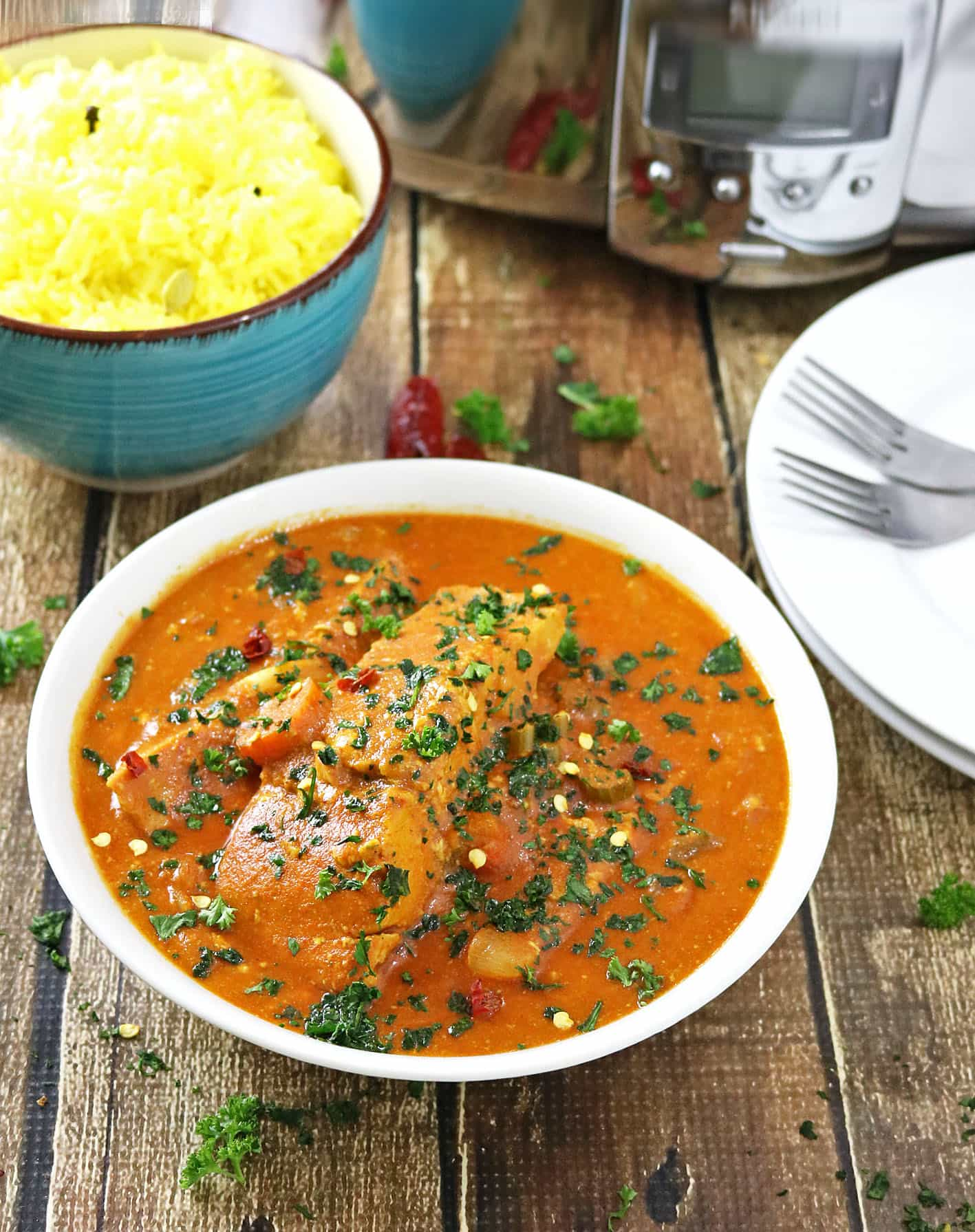 Slow Cooker Salmon Curry