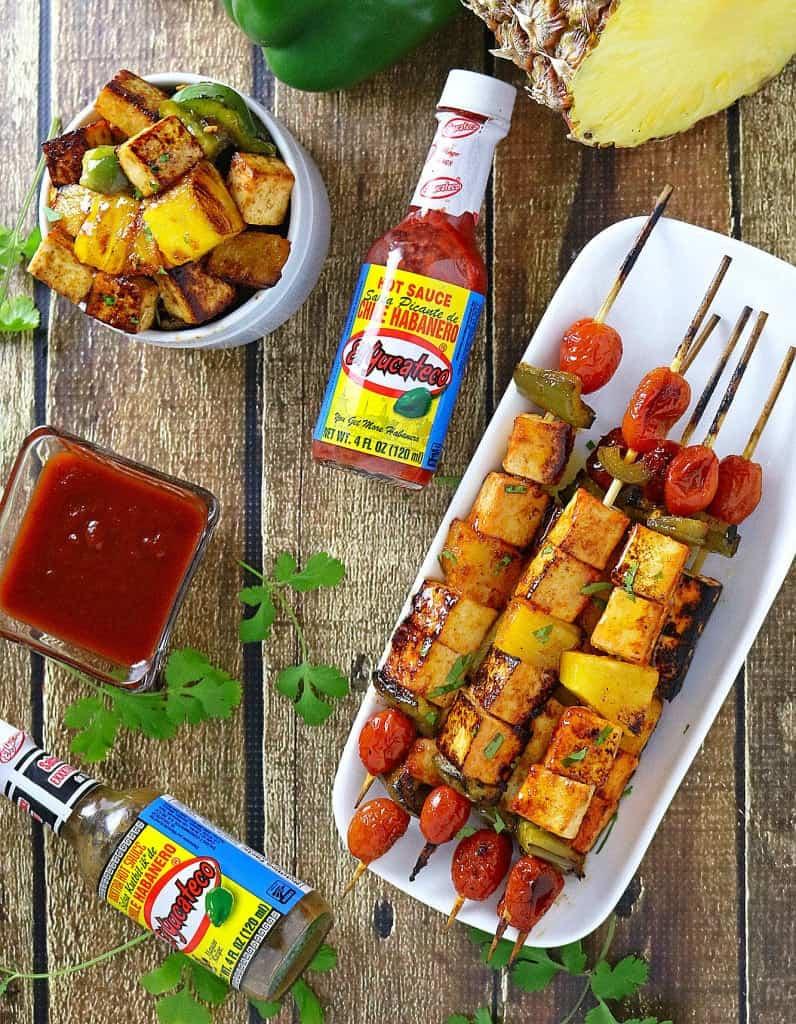Spicy & Sweet Pineapple Tofu Skewers #KingOfFlavor