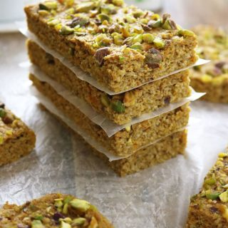 Sweet Potato Pistachio Bars #SweetNewYear