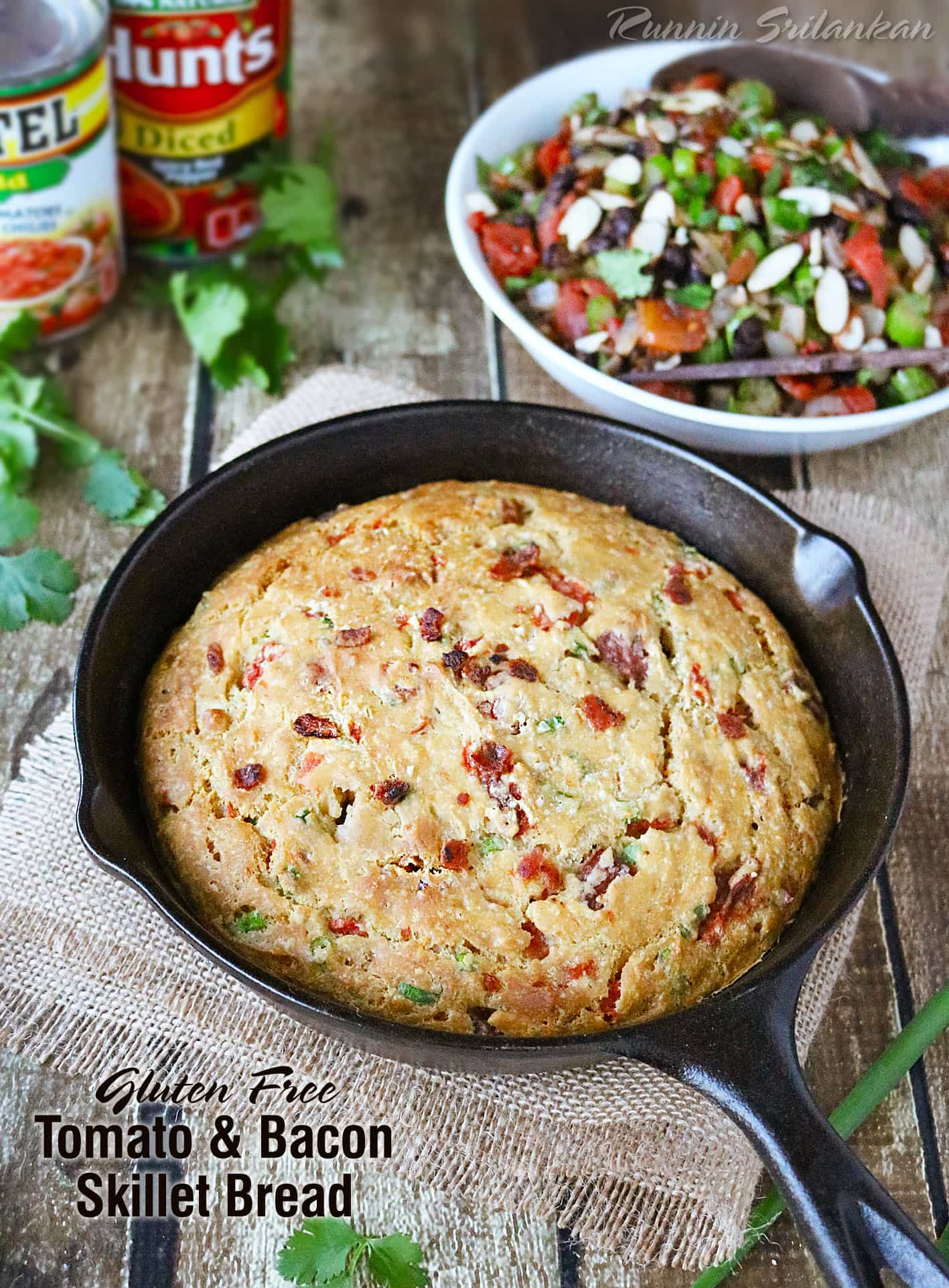 Tomato Bacon Skillet Bread that happens to be gluten free!