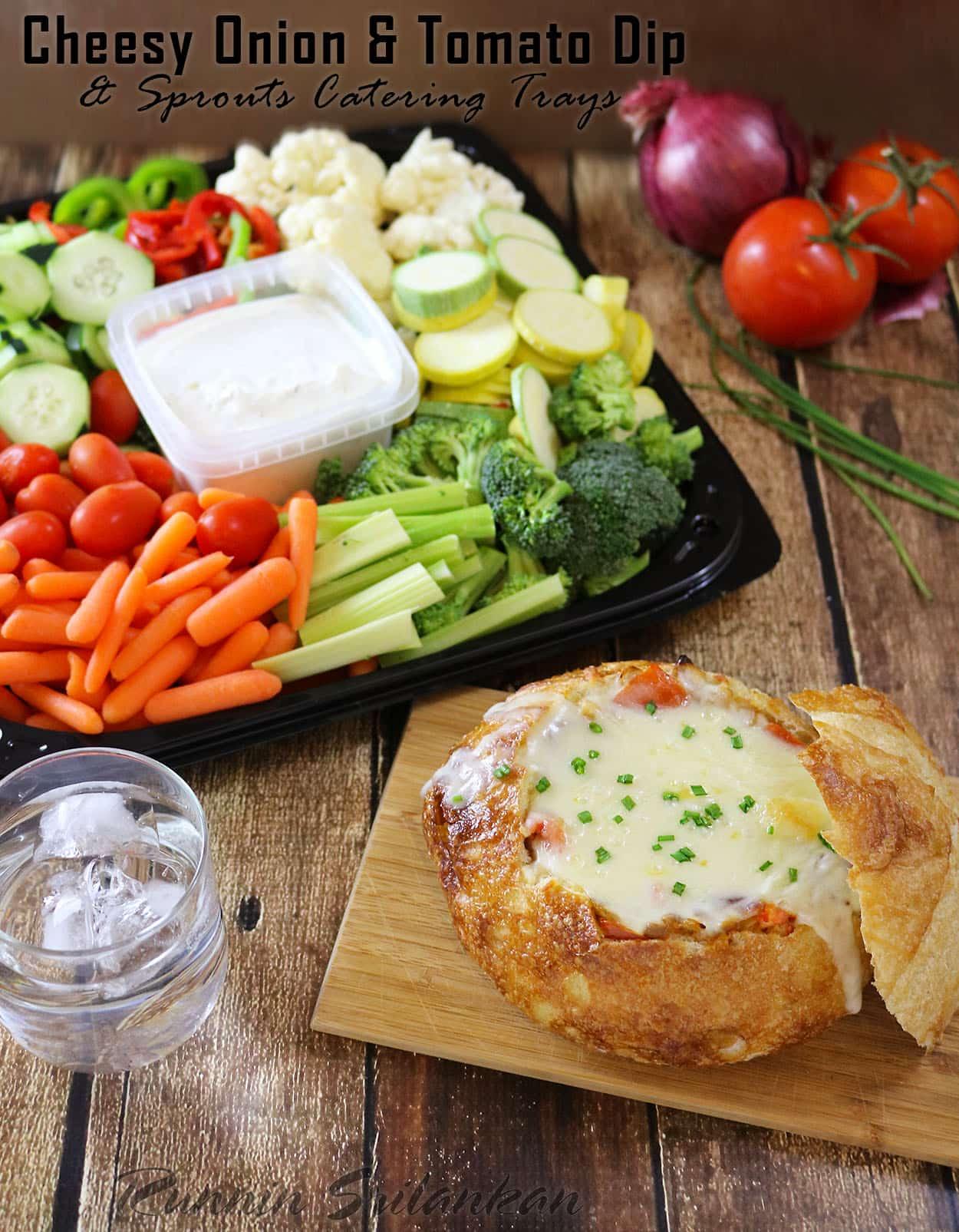 Cheesy Onion Tomato Dip
