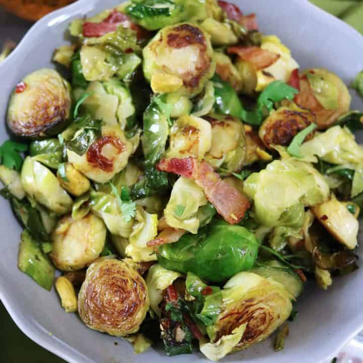Bacon Braised Brussels Sprouts #TheRecipeRedux