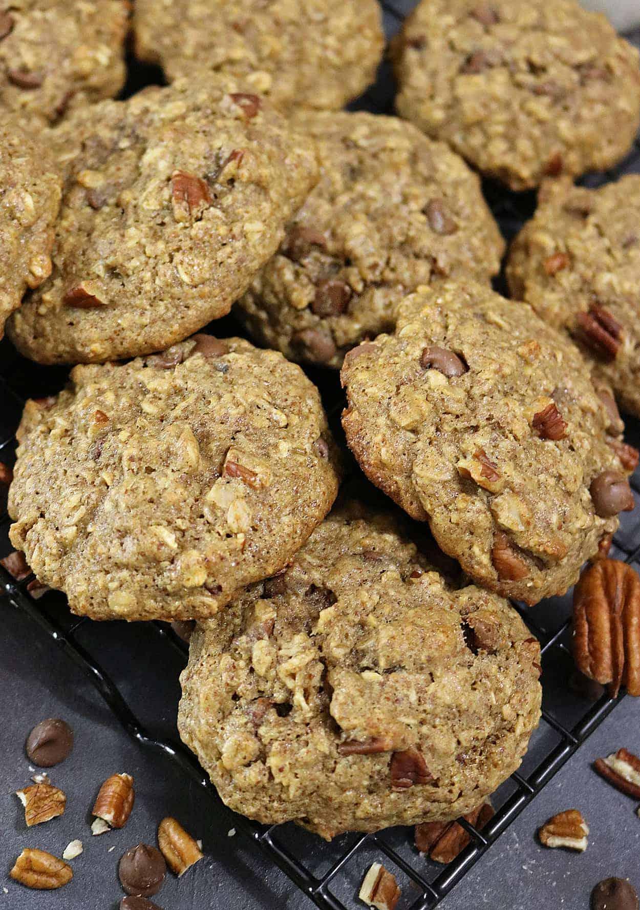 Gluten Free, Pecan Chocolate Chip Cookies