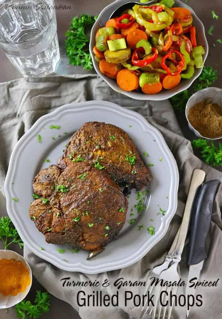 Turmeric & Garam Masala Spiced, Grilled Smithfield Pork #GrillPorkLikeASteak