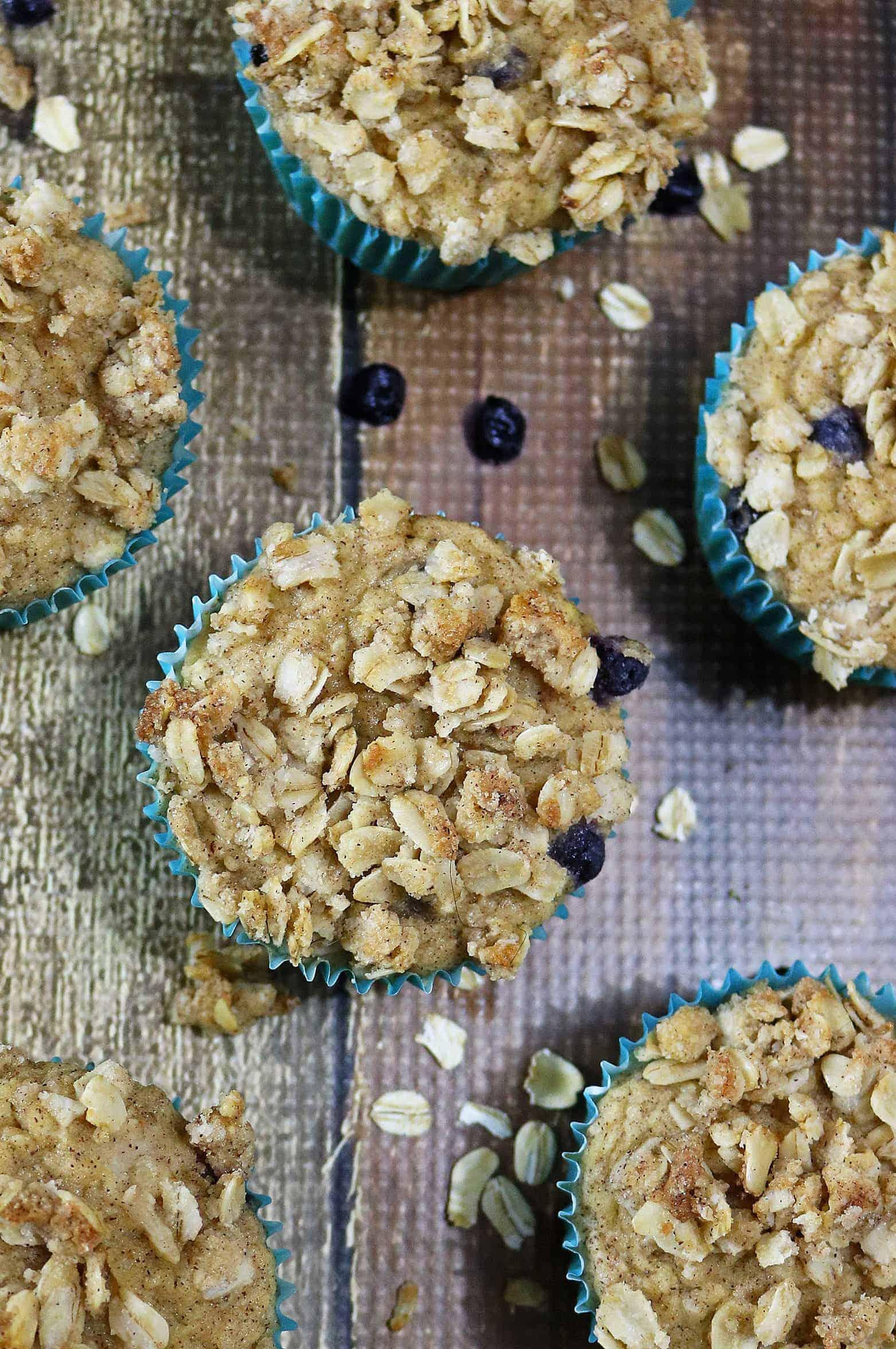 Blueberry Jicama Muffins {Gluten Free)