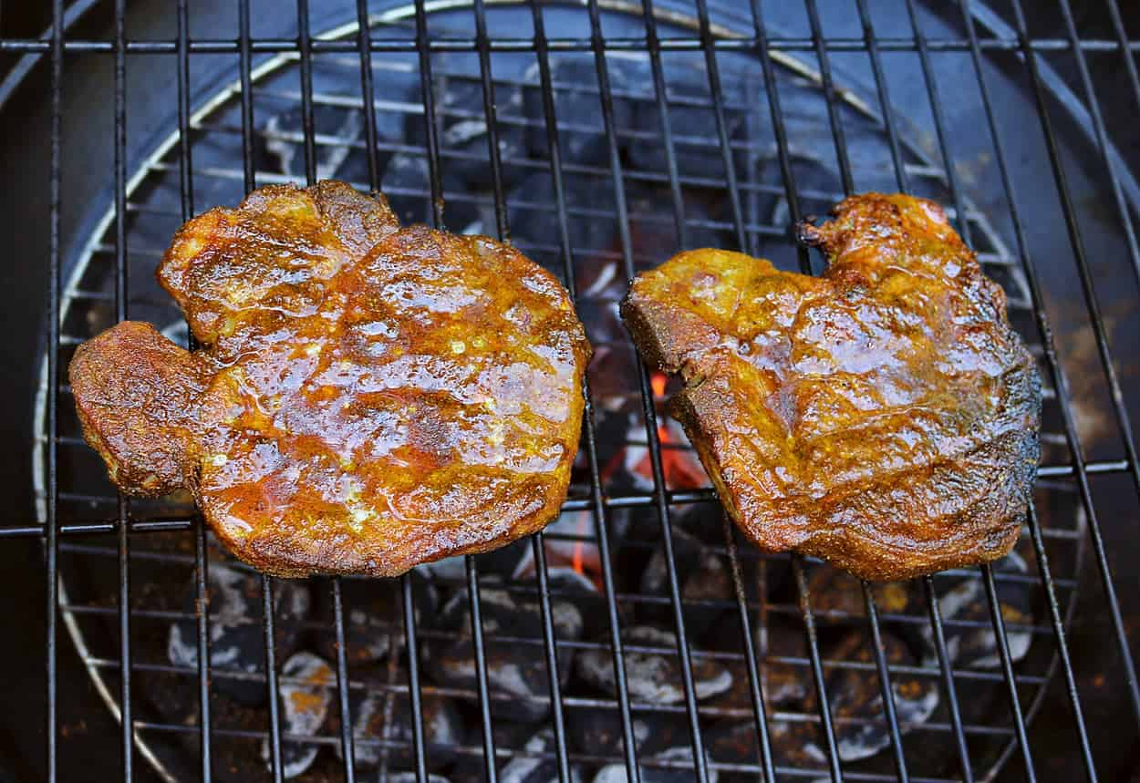 Turmeric & Garam Masala Spiced, Grilled Pork #GrillPorkLikeASteak