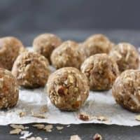 Aval Laddu ~ Spiced Pecan Banana Rice Balls