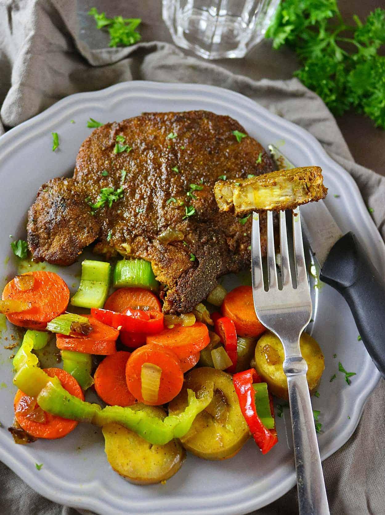 Turmeric & Garam Masala Spiced, Grilled Pork