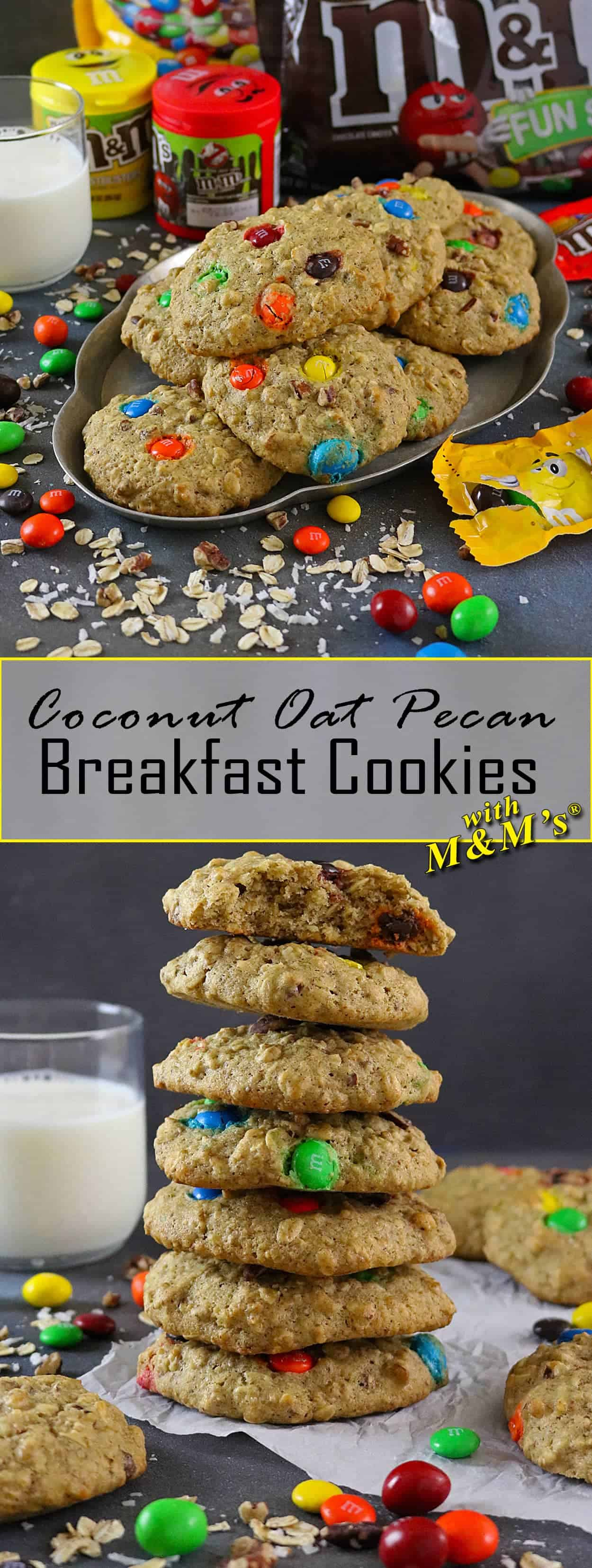 Coconut Oat Pecan Breakfast Cookies #BTSSpirit #ad