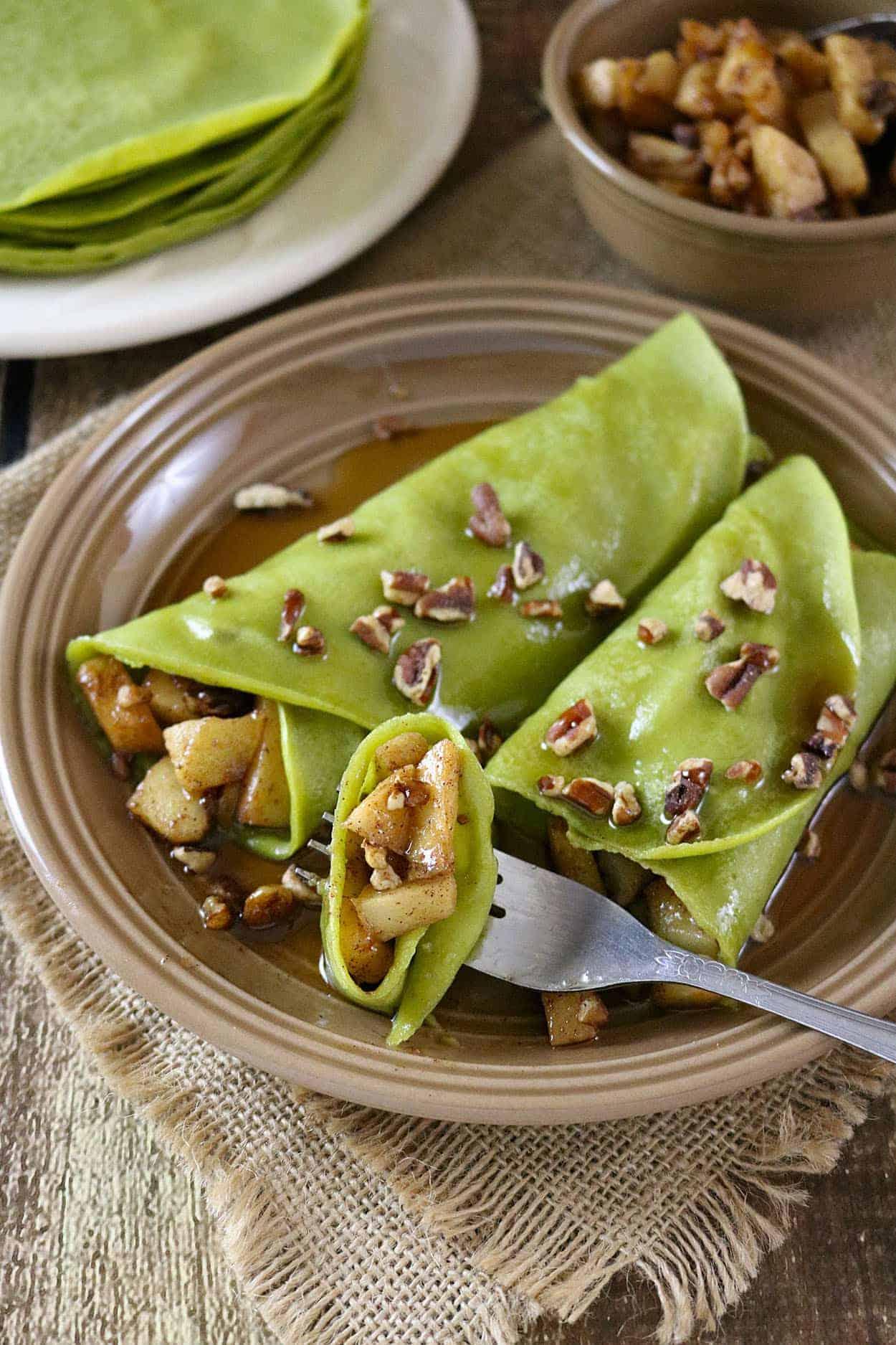 Matcha & Banana Protein Crepes