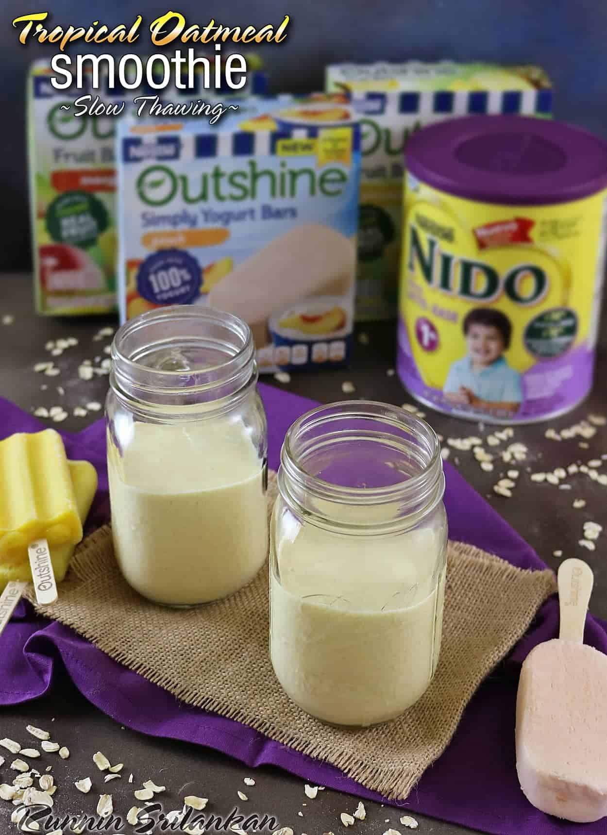 Slow Thawing Tropical Oatmeal Smoothie #BackToSchoolReady