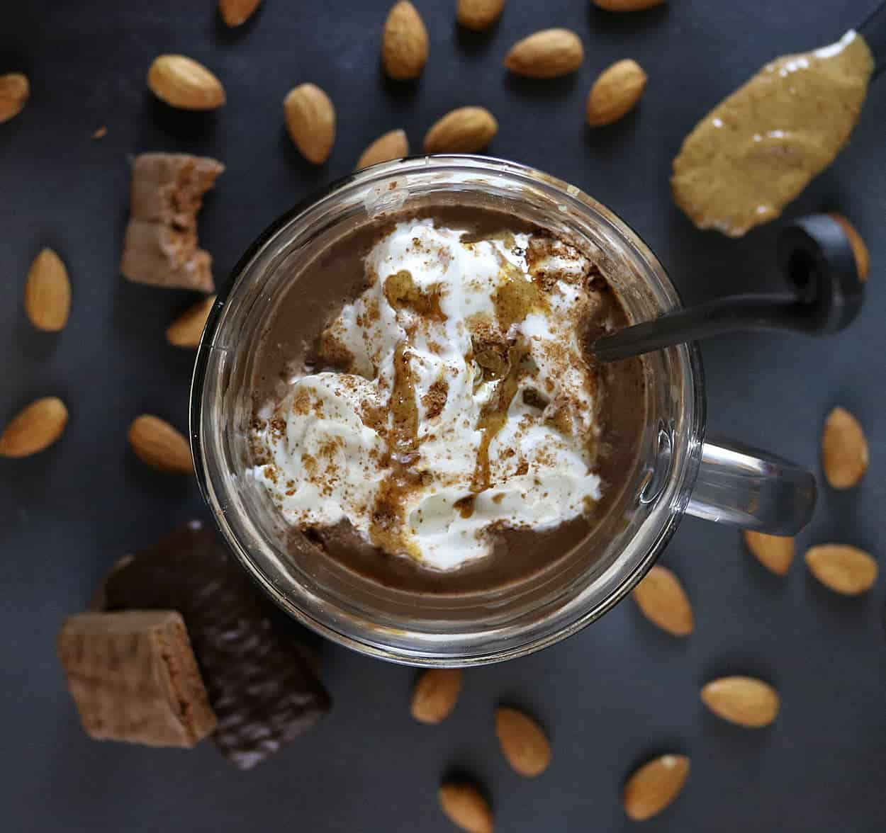 Almond Hot Chocolate perfect with Tim Tams #ad #TimTamFriends