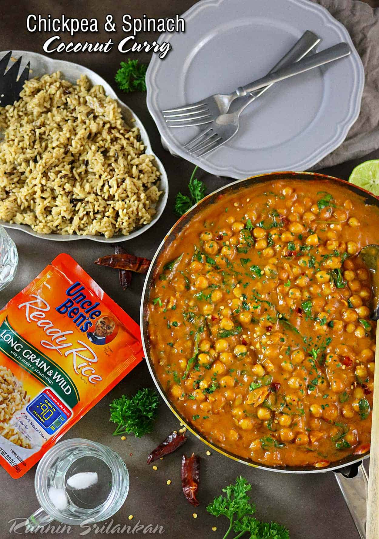 Easy Chickpea & Spinach Curry for dinner