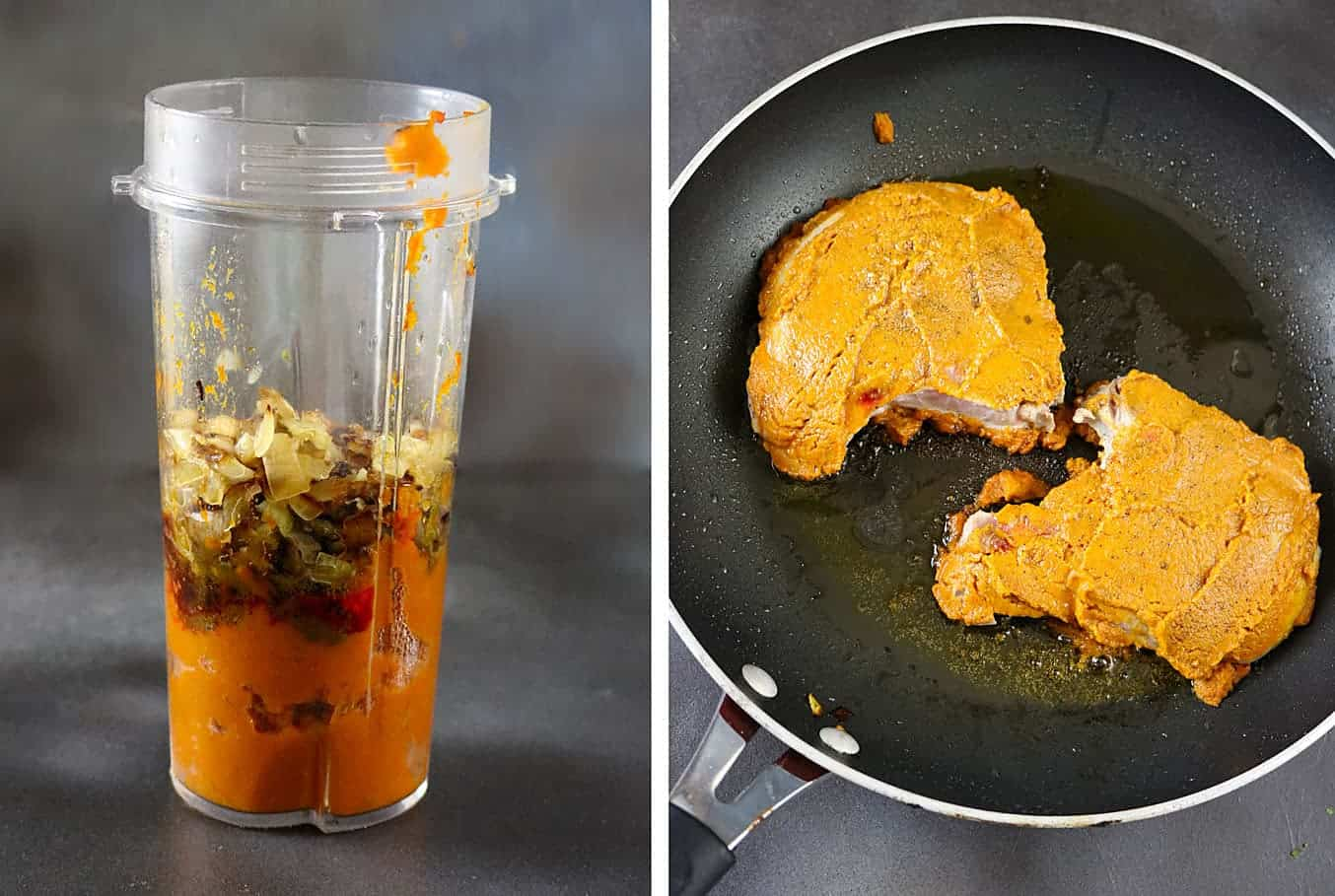 Pumpkin Curried Pork Chops #SmithfieldCares #ad Recipe at RunninSrilankan.com