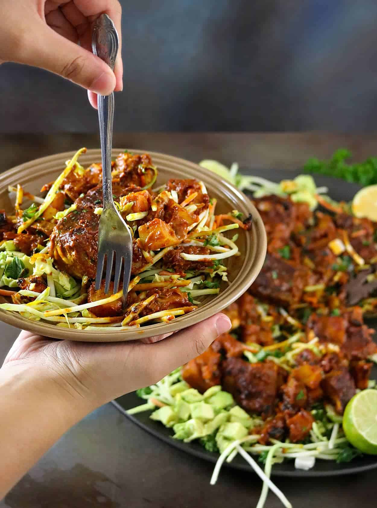 Potato & Salmon Dry Curry - Recipe available on RunninSrilankan.com