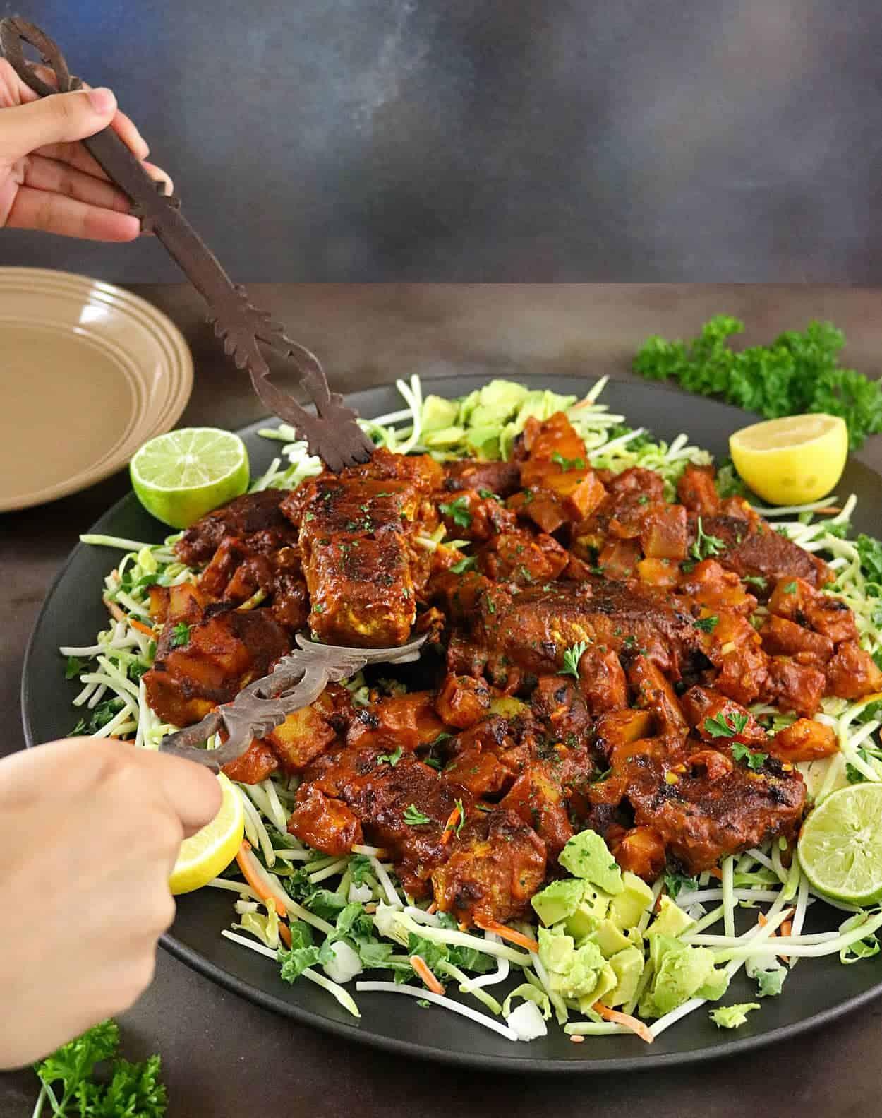 Potato & Salmon Dry Curry