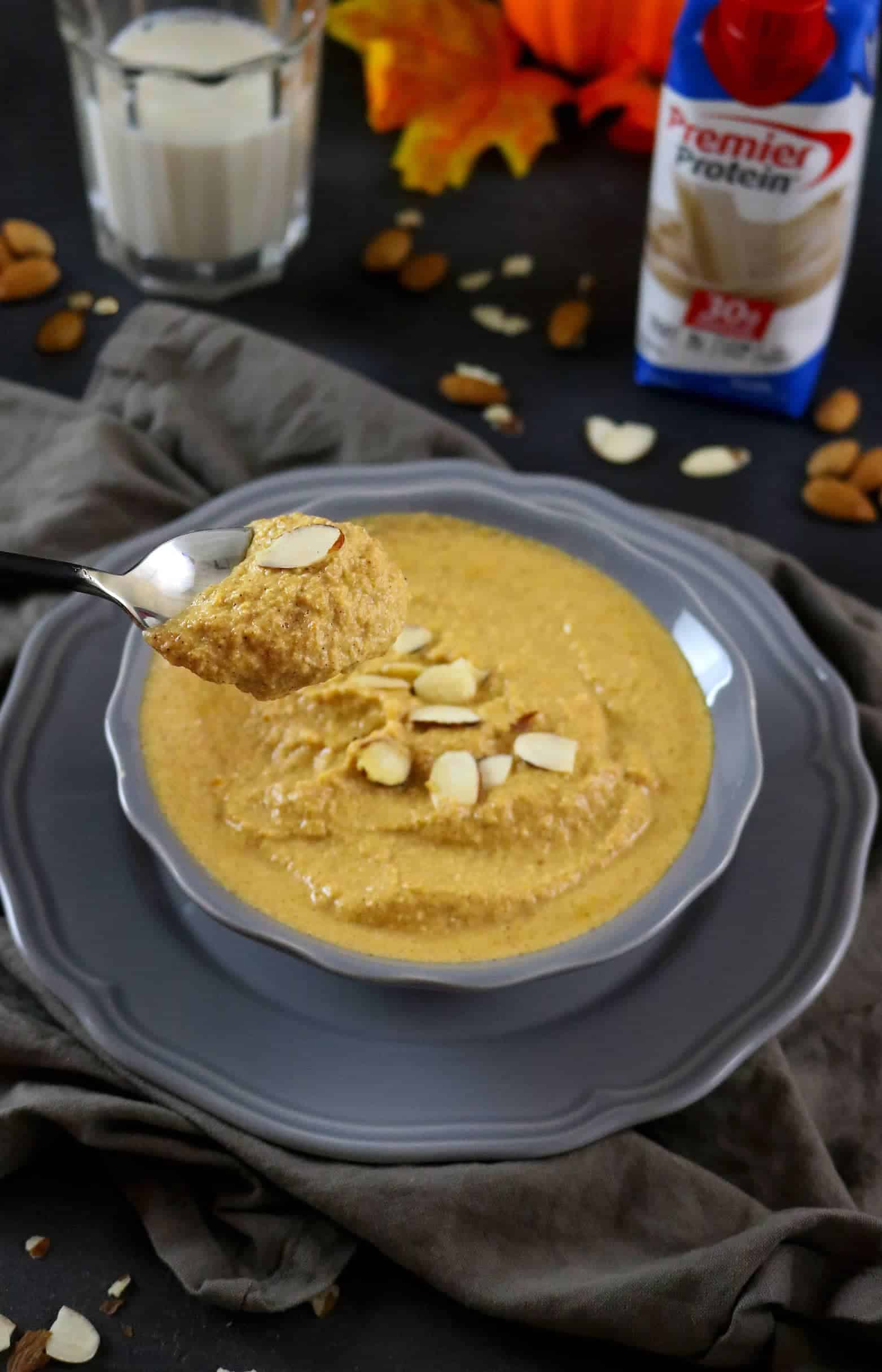 Pumpkin Pie Porridge - totally grain-free and packed with protein