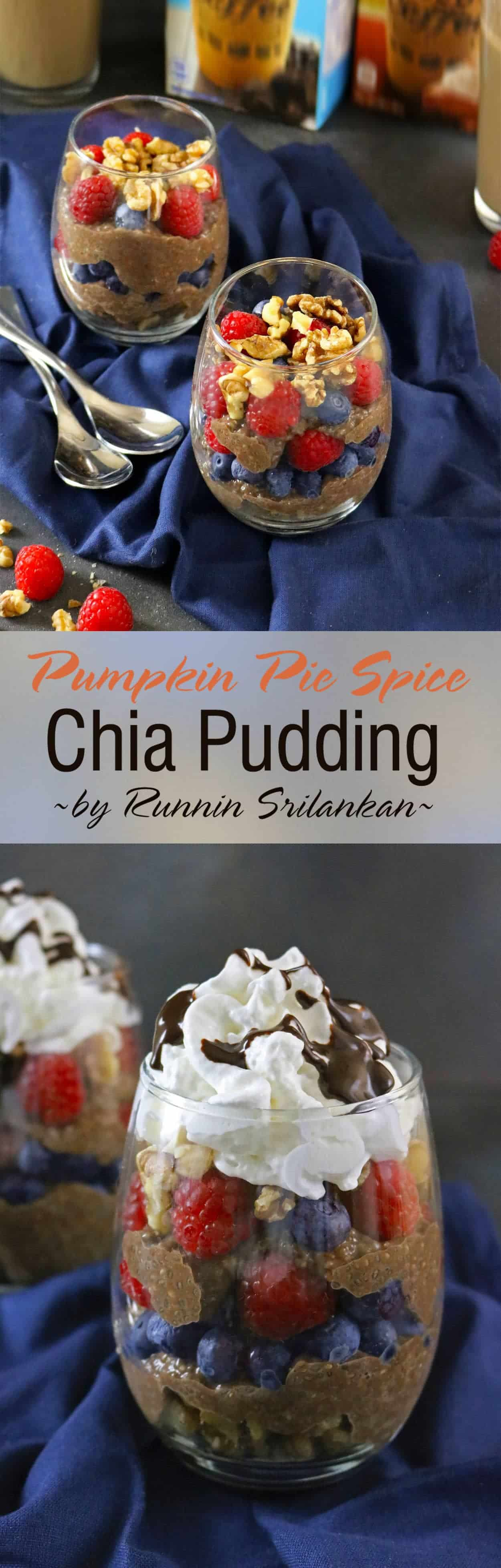 Pumpkin Pie Spice Chia Pudding #foundmydelight