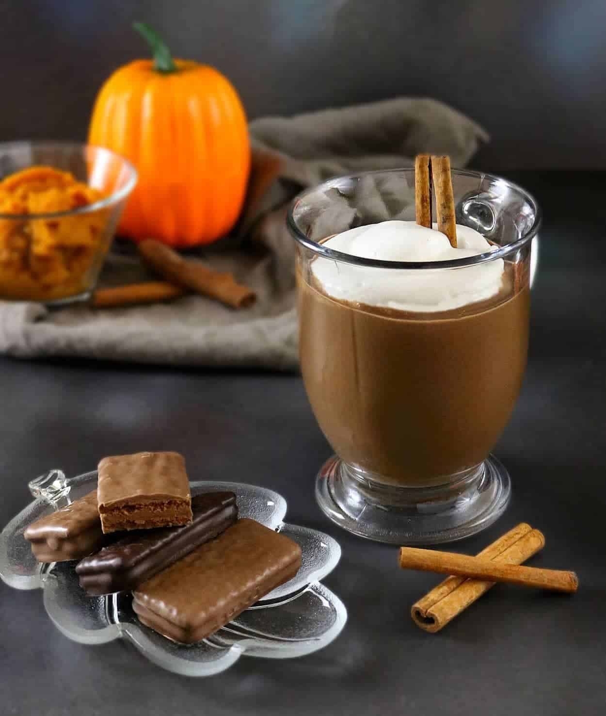 Pumpkin Spice Hot Chocolate perfect with Tim Tams #ad #TimTamFriends