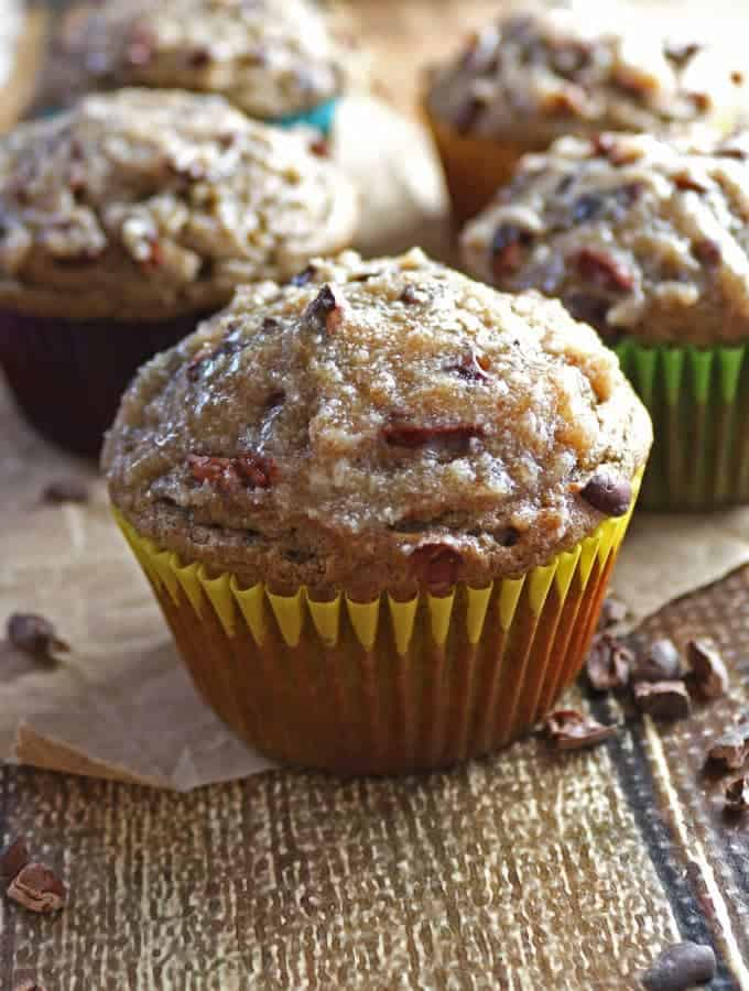 Date And Banana Muffins with Cacao Nibs (Refined Sugar-Free and Gluten-free)