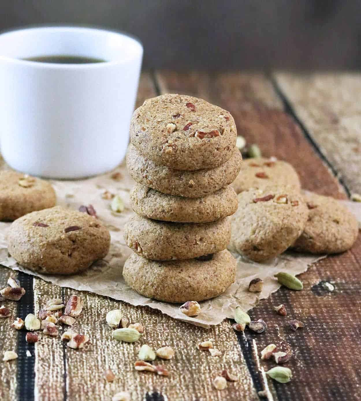 Ginger Cardamom Cookies - gluten-free, sugar-free, sweetened with Splenda Naturals