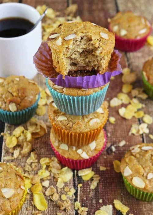 Blender Honey Almond Cereal Muffins