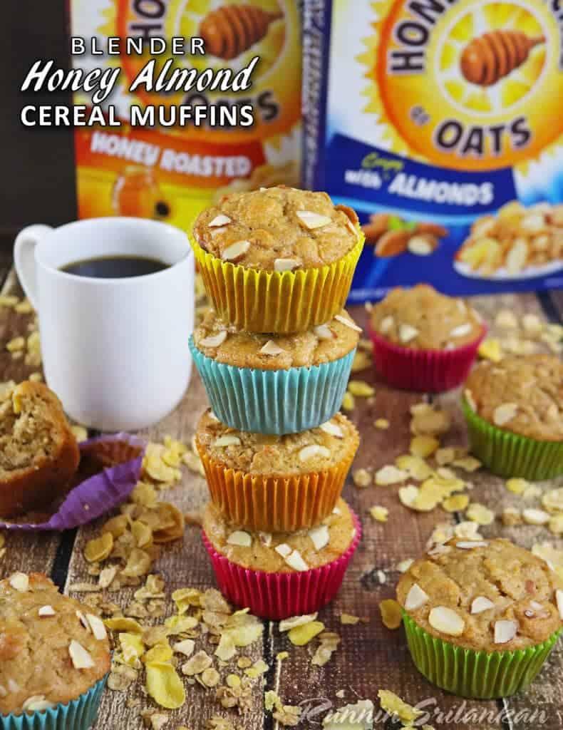 Blender Honey Almond Cereal Muffins #CerealAnytime