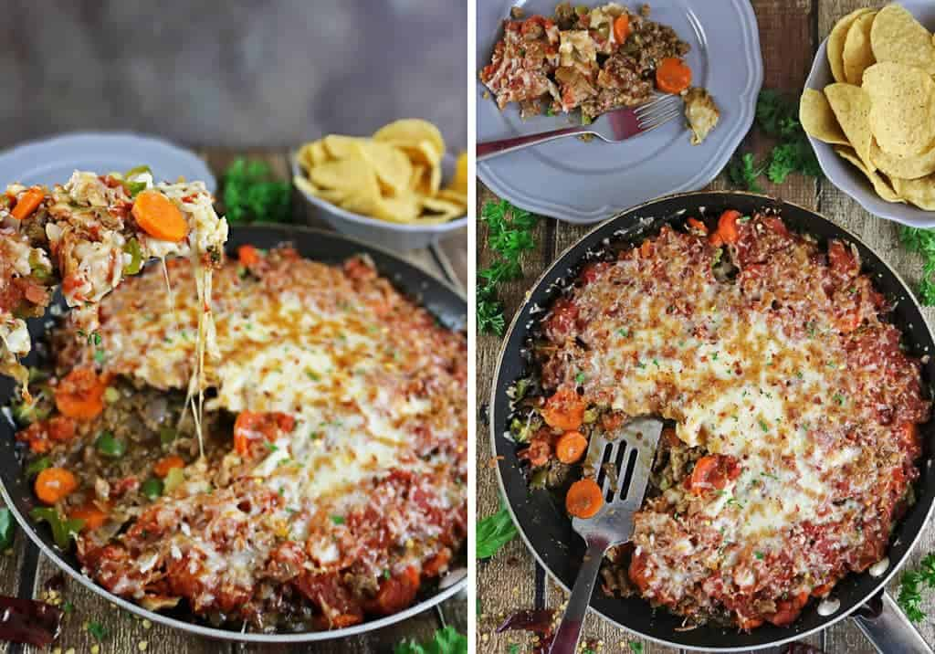 Cheesy and tasty Tomato Veggie Crumble Casserole